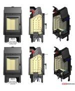 Kratki - Blanka 8 kW - ohnisko vyložené platňami Thermotte