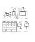 Teplovzdušná kozubová vložka Kobok - Chopok R90 S/330 L/P  730/510