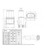 Kobok Chopok 780/440 Teplovodný výmenník, Krbová vložka