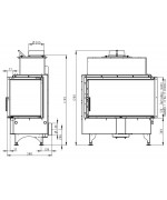 Romotop ANGLE R 2g S 88.51.44.01 s ohýbaným sklom Krbová vložka
