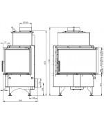 Romotop ANGLE R 2g S 66.44.44.01 krbová vložka s ohýbaným sklom