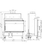 HEAT R 2g S 81.51.40.01 - rohová krbová vložka s ohýbaným sklom