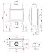 Teplovzdušná kozubová vložka Bef Home- Bef Flat 6 Twin