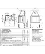 Teplovzdušná kozubová vložka Kobok - Chopok R90 S/330 L/P  600/510