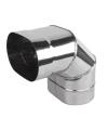 Koleno ovál 120/200 mm - 90° dlhý bok