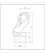 Komínová hlavica s ložiskom ø160 mm nerez