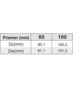 Sopúch ø100 mm oceľ - 90° s revíznym otvorom