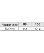 Kondenzačná ímka ø100 mm oceľ