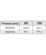Redukcia ø100 mm oceľ