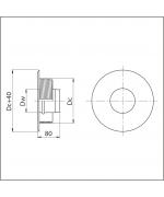 Komínový prechod ø100 mm oceľ