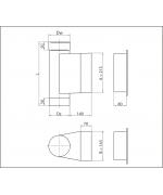 Dvierkový diel ø180 mm nerez s dvierkami 140x210