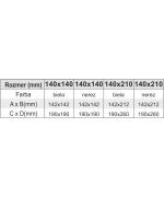 Komínové dvierka 140x140 biele