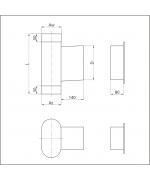 Dvierkový diel ovál 120/220 mm s dvierkami 140x210