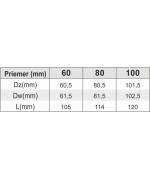 Koleno 45° ø60 mm nerez kondenz