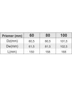 Koleno 90° s odvodom kondenzu ø60 mm nerez kondenz
