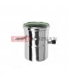 Rúra s odtokom kondenzu a meracim otvorom ø60 mm nerez kondenz