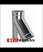 Zostava nerezový trojplášťový komínový systém ø200/uhol 45°/výška 4,6m