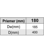 Komínová doska 40x40 kratka ø180 mm nerez