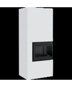 Kratki SIMPLE 8 BS biele, pravé presklenie s obstavbou - designový krb