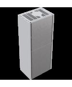 Kratki SIMPLE 8 BS biele, ľavé presklenie s obstavbou - designový krb